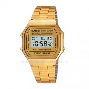 Orologio Casio in acciaio PVD oro giallo cassa 34 mm A168WG-9WDF - gallery