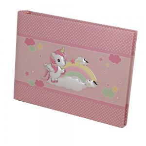 Album da bambina con Unicorno album orizzontale 22x16 cm - gallery
