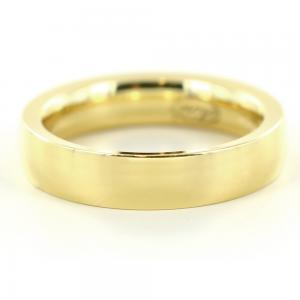 Anello a fascia liscia in oro giallo 4 mm misura 11 - gallery
