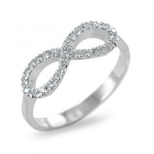 Anello a forma di infinito con diamanti - anello infinity - gallery