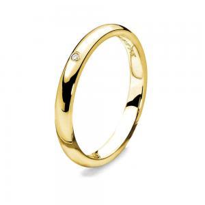 Anello Comete Gioielli con un diamante oro giallo misura 12 - gallery
