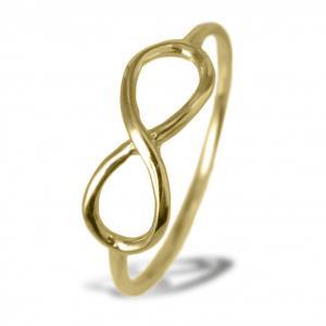 Anello con simbolo infinito in oro giallo - gallery