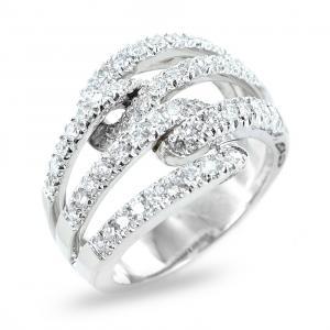Anello fantasia con fasce diamanti da ct 1.00 un carato - gallery