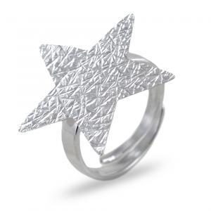 Anello in argento con stella argentata collezione Shiny - gallery