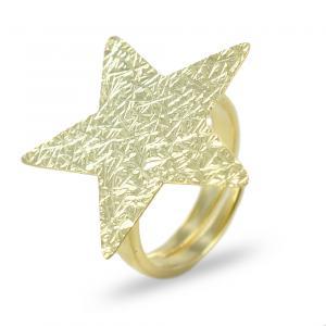 Anello in argento con stella dorata collezione Shiny - gallery