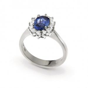 ANELLO in argento e zircone blu - gallery