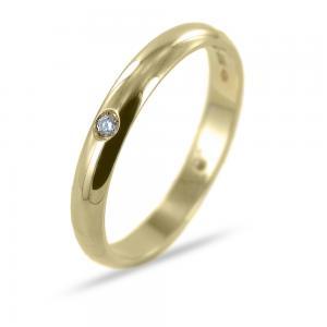 Anello in oro giallo con 4 diamanti misura 24 - gallery