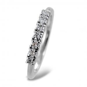 Anello Riviera a 7 diamanti in oro e diamanti 0.35 carati - gallery
