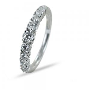Anello Riviera a scalare con 11 Diamanti per carati 0.66 F VS - gallery