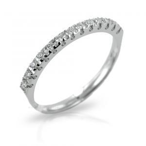 Anello Riviera con 13 Diamanti per carati 0.14 G VS Gioielli Valenza - gallery