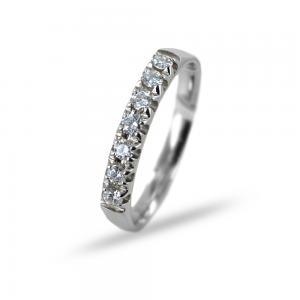 Anello Riviera con 7 Diamanti per carati 0.22 G VS Gioielli Valenza - gallery