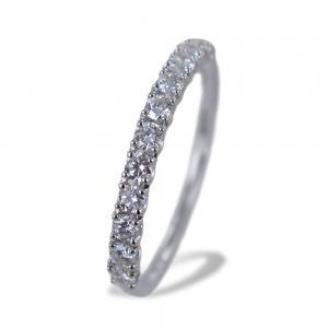 Anello riviera media in oro bianco con diamanti da quasi mezzo carato - gallery