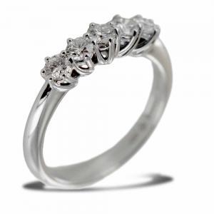 Anello Riviera Salvini Lavinia con mezzo carato di diamanti - gallery
