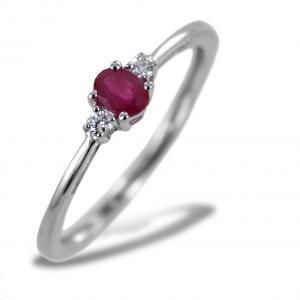 Anello Rubino indiano e diamanti modello Kesar Gioielli Raaja - gallery