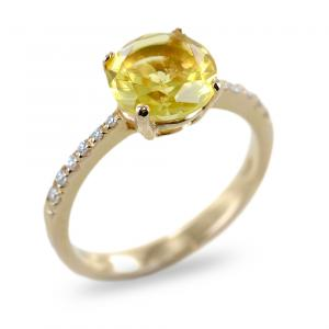 Anello Salvini Collezione Trilly diamanti e quarzo Lemon - gallery