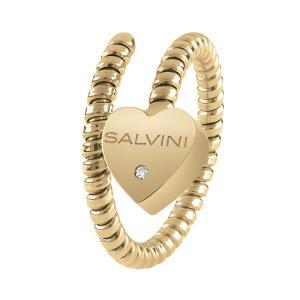 Anello Semirigido con ciondolo cuore Salvini in oro giallo e diamante MINIMAL POP 20084323 - gallery