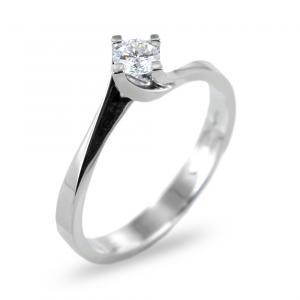 Anello solitario con diamante ct 0.10 G VS valentine - gallery