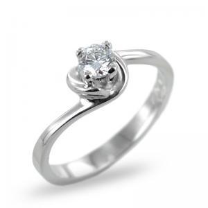 Anello Solitario con diamante ct. 0.24 G  - modello diamante in abbraccio - gallery