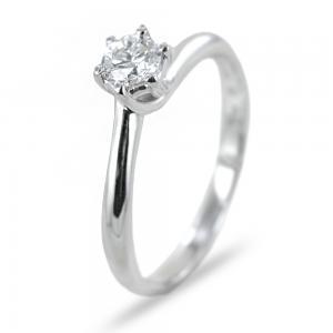 Anello solitario con diamante ct 0.31 Salvini gioielli  - gallery