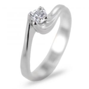 Anello Solitario con montatura Valentine diamante 0.20 carati colore H - gallery