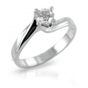 Anello Solitario Valentine in oro con diamante 0.27 G - gallery