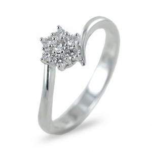 Anello Stella con Diamanti per carati 0.19 G Gioielli Valenza - gallery