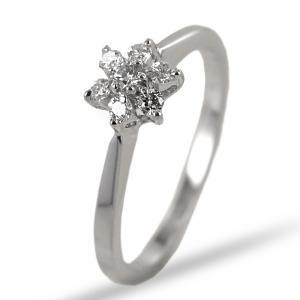 Anello Stella in oro con diamanti  0.17 G  - gallery