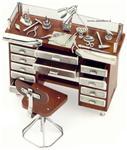 Banco orologiaio in argento 925/000 e legno - gallery
