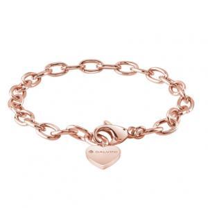Base bracciale componibili di Salvini in argento rosa con charm cuore 20075269 Charms of Love - gallery