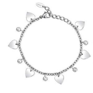 Bracciale 2Jewels con charms cuori in acciaio collezione Preppy 231952 - gallery
