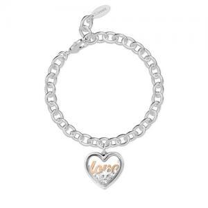 Bracciale 2Jewels donna Daylight in acciaio con pendente Love 232016 - gallery