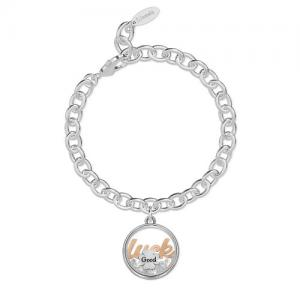 Bracciale 2Jewels donna Daylight in acciaio con pendente Luck 232013 - gallery