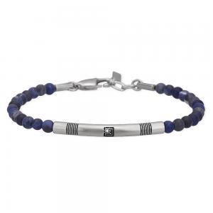 Bracciale 2Jewels Uomo Smart in acciaio pietre blu 231998 - gallery