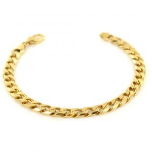 Bracciale da uomo in oro maglia groumette 20.50 cm - gallery