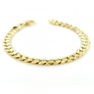 Bracciale da uomo in oro maglia groumette 23.00 cm - gallery