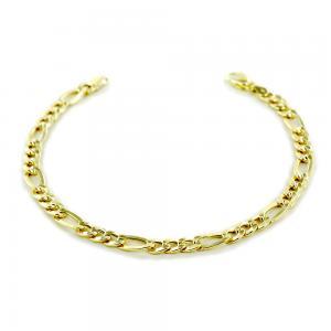 Bracciale da uomo medio in oro 19.50 cm maglia groumette  - gallery