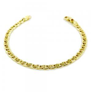 Bracciale da uomo medio in oro 20 cm traversino oreficeria aretina - gallery