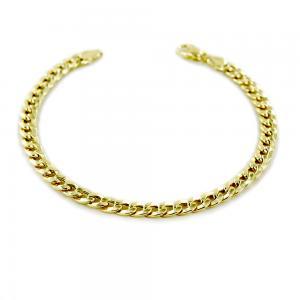 Bracciale da uomo medio in oro 20.50 cm groumette oreficeria aretina - gallery