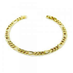 Bracciale da uomo medio in oro 21 cm maglia groumette  - gallery