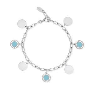Bracciale Donna 2Jewels in Acciaio con charms blu 232175 - gallery