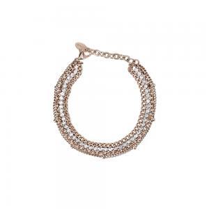 Bracciale Donna 2Jewels in Acciaio PVD rosa e cristalli bianchi collezione Mix e Match 232117 - gallery