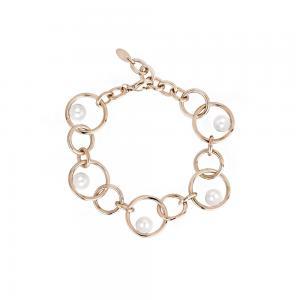 Bracciale Donna 2Jewels in Acciaio PVD rosa e perle collezione Pearl Planet 232114 - gallery
