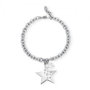 Bracciale donna 2Jewels Like a Star in acciaio e cristalli Stella 231941 - gallery