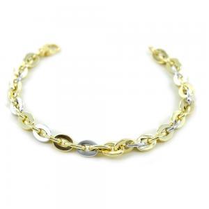 Bracciale Donna a catena in oro giallo e bianco bicolore - gallery