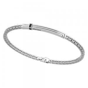 Bracciale in argento da uomo con spinelli neri Zancan EXB 817 - gallery