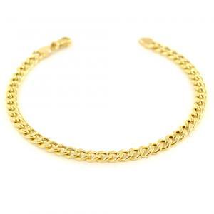 Bracciale in oro da uomo Groumette 21.00 cm manifattura aretina - gallery