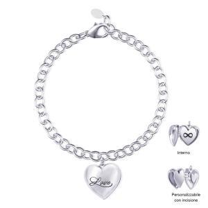 Bracciale Mabina in argento con Cuore apribile Infinito 533242 - gallery