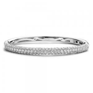Bracciale rigido Ti Sento Milano Donna con cristalli in argento 2275ZI - gallery