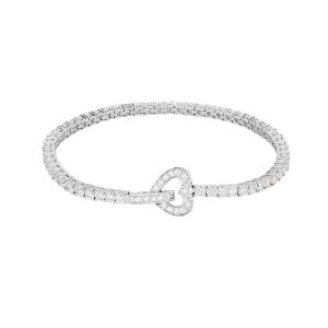 Bracciale tennis cuore in argento con zirconi 533018 - gallery