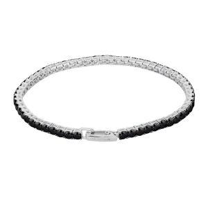 Bracciale tennis Mabina in argento con zirconi neri 533023 - gallery